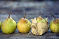 Comice Pears...better for cooking than Bartlett...won't fall apart.