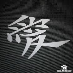 Pegatinas: Love V #vinilo #adhesivo #decoracion #pegatina #chino #japonés #tatuaje #TeleAdhesivo