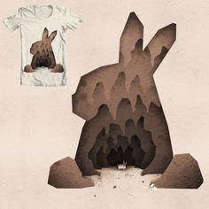 A Monty Python Inspired Rabbit of Caerbannog Illustration - Boney Illustration Rabbit Of Caerbannog, Monty Python, Moose Art, Digital, Animals, Illustrations, Inspiration, Inspired, Shirt