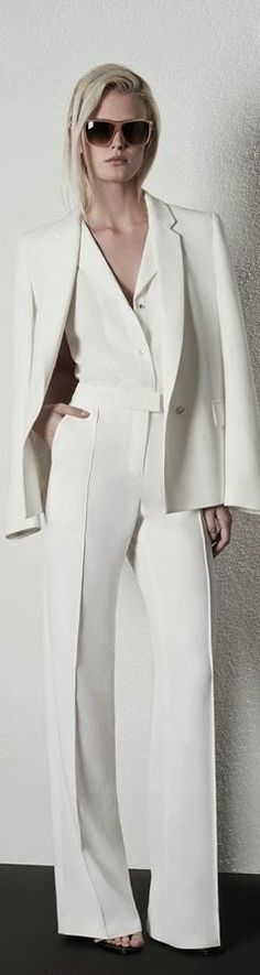 Reiss  All white. Not starchy.  Louche classical. Elegant and hip.