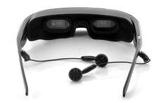 Mobile Theatre Video Glasses with Virtual Screen