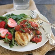 Chicken with Strawberry Basil Sauce recipe