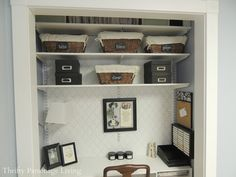 closet to small office space. LOVE IT!