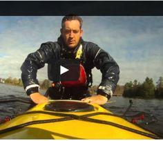 James Roberts of the Ontario Sea Kayak Centre demonstrates a sea kayak scramble self-rescue.