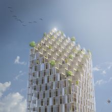 Architectura - Berg | C.F. Moller Architects wil houten wolkenkrabber in Stockholm