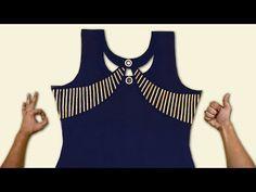 LATEST NECK DESIGN WITH GOTA PATTI 2019 - YouTube Chudidhar Neck Designs, Neck Designs For Suits, Sleeves Designs For Dresses, Neckline Designs, Blouse Neck Designs, Kurta Designs, Salwar Suit Neck Designs, Kurta Neck Design, Fancy Blouse Designs