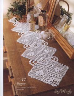 Gallery.ru / Zdjęcia # 6 - Elegancki kwiatowy Crochet Lace serwetka Obrusy - igoda