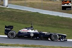 The 2013 Williams F1 Car Is 80% New. This is what it would look like without the tail fin. Incredible how tightly packaged the rear ends are in modern F1 cars.