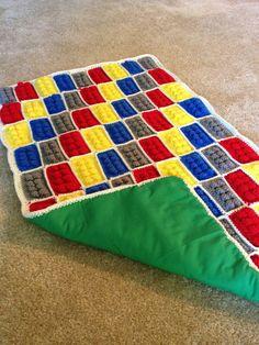 Lego Kids Blanket by CroChali on Etsy