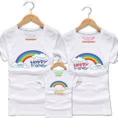 Find More Family Matching Outfits Information about Mother and Daughter Father and Son Matching T Shirt Baby Kids Cloud Rainbow Family T Shirts Tops Clothes Boys Cotton Tee Shirt,High Quality shirt leopard,China shirt flag Suppliers, Cheap shirt silk screen machine from Witness the Growth of Children on Aliexpress.com