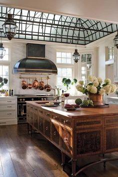 Classic Kitchen, New Kitchen, Kitchen Ideas, Kitchen Decor, Awesome Kitchen, Kitchen Layout, Design Kitchen, Kitchen Furniture, French Kitchen