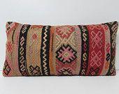 decorative pillow bed lumbar kilim pillow oriental lumbar pillow kilim fabric pillow kilim throw pillow wool cushion kilim pillow sham 17583