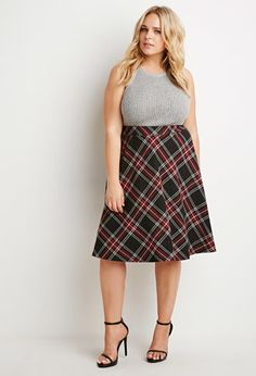 Plaid A-Line Skirt | Forever 21 PLUS | #forever21plus