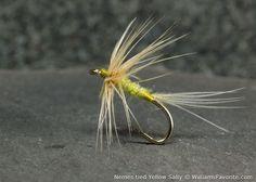 Sylvester Nemes original tied flies. Yellow Sally Soft Hackle Spider Pattern. WilliamsFavorite.com