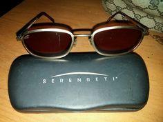 Serengeti Drivers Sunglasses 6481 Visa Gunmetal Frame used but awesome with case #Serengeti #Designer