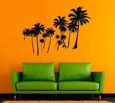 Palm Tree Wall Sticker Palm Vinyl Decal Tree by AndreadecalS.  $23.99 on etsy. COMES IN DIFFERENT COLORS