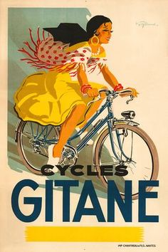 Cycles Gitane Vintage Bicycle Poster