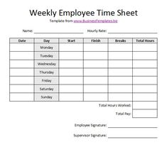 Printable Time Sheets Forms Free Printable Timesheet Templates Free Weekly Employee Time, Sample Blank Timesheet 6 Documents In Pdf, Printable Blank Pdf Time Card Time Sheets, Templates Printable Free, Card Templates, Free Printables, Schedule Templates, Checklist Template, Budget Template, Time Sheet Printable, Printable Cards, Payroll Template