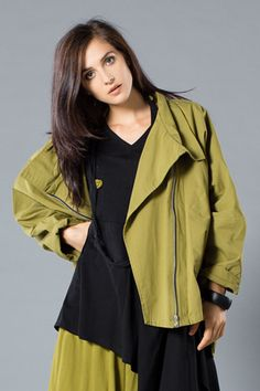 Left Bank Jacket in Green Chartreuse Canvas
