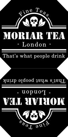 purplueprose:  Make Your Own Moriar Tea Labels! So you might have seen some of…