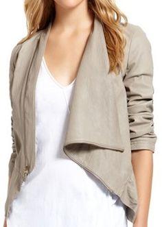 Drape Neck Asymmetrical Jacket
