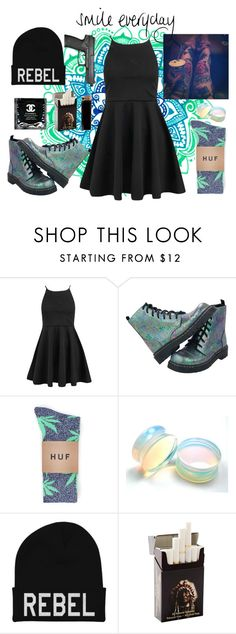 """""""Fire meet gasoline, I'm burning alive ; And I can barely breathe, When you're here loving me. Fire meet gasoline. Burn with me tonight, And we will fly, Like smoke darknin' the skies. I'm Eve, I want to try. Take a bite!♫"""" by shaimae ❤ liked on Polyvore featuring Boohoo, T.U.K. and HUF"""