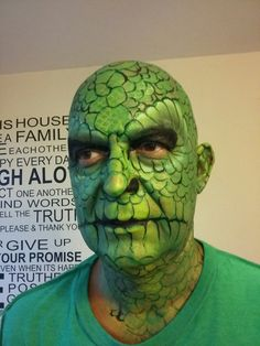 Lizard facepainting  created by caroline healy