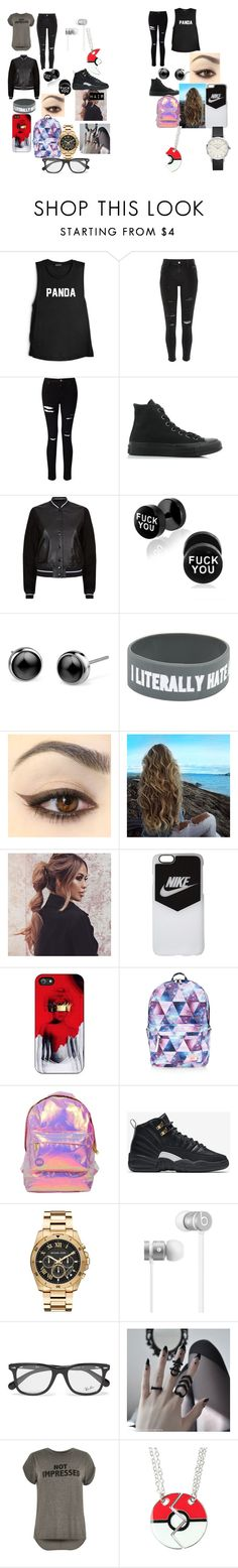 """""""Untitled #20"""" by asya-childress on Polyvore featuring River Island, Miss Selfridge, Converse, rag & bone, NIKE, Accessorize, Michael Kors, Beats by Dr. Dre and Ray-Ban"""