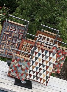 A Collection of Petite One-patch Projects.  I love small quilts!