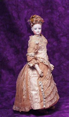 FRENCH BISQUE FASHION LADY IN ORIGINAL COSTUME. Marks: : Lot 62