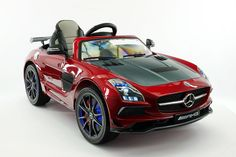 Mercedes SLS AMG Final Edition 12V Kids Ride-On Car with Parental Remote | Cherry Red