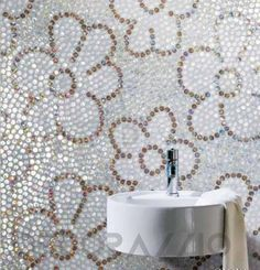 #mosaic #decor #interior #design #Мозаика Sicis NeoGlass, NGBX_04_Floris_Flax