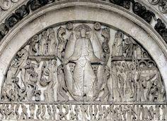 Last Judgement, Gislebertus. West Tympanum of Saint-Lazare, Autun, France. ca. 1120-1135 CE, Romanesque