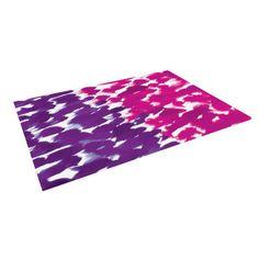 Kess InHouse Emine Ortega Dotty Purple Blue Table Runner