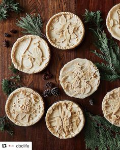 """Twelve day of Christmas pies"" with illustrated figurative crusts. Holiday Pies, Holiday Baking, Christmas Baking, Christmas Sweets, Christmas Pies, Beautiful Pie Crusts, Pie Crust Designs, Just Pies, Pie Decoration"