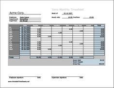 Community Service Timesheet Printable Time Sheets Free To