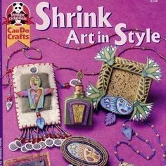 Shrink art in style shrink plastic book by birdandflower on Etsy, $10.99