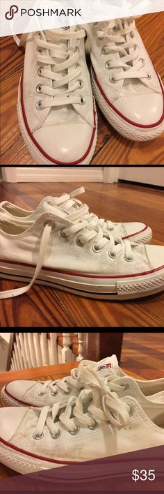 White converse women's size 9 Great white converse. They have been worn a few times but sure have plenty of life left in them. Converse Shoes Sneakers