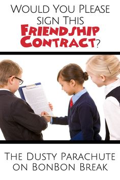 Would You Please Sign This Friendship Contract? - You heard about the mom who issued a bill to a no-show at her kid's birthday party...well this is the perfect antidote. (giggle giggle)
