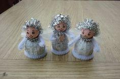 poslové z nebe- opět v prodeji / Zboží prodejce AtaneR. Christmas Ornaments To Make, Christmas Art, Angel Crafts, Beautiful Day, Decoupage, Arts And Crafts, Dolls, Holiday Decor, Gifts