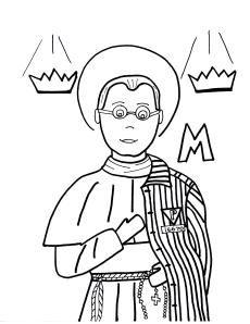 saint maxamillion kolbe coloring pages | St. Maximilian Kolbe on Pinterest | Catholic and Coloring ...