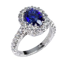 #Platinum and #sapphire ring by Jack Kelége, available at TIVOL.