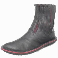 Camper Women's Beetle Boot, Negro, Black, Leather