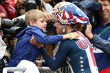 Kristin Armstrong's First Order of Business After Winning a Third Gold Was Hugging Her Son