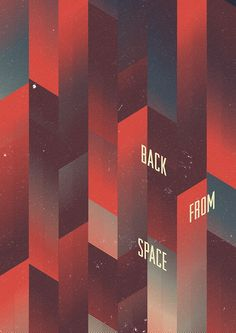 Back From Space - Marius Roosendaal  #grafica #poster #optical #pattern