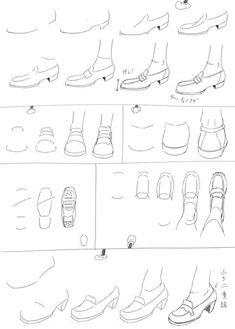 How to draw shoes Sneakers shoes drawing Drawing Reference Poses, Drawing Tips, Drawing Sketches, Drawings, Manga Drawing, Figure Drawing, How To Draw Heels, Drawing School, Shoe Sketches