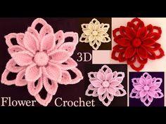How to Easy Crochet Flowers Woven Crochet Puff Flower, Crochet Flower Tutorial, Crochet Flower Patterns, Crochet Flowers, Crochet Motif, Crochet Stitches, Crochet Crafts, Easy Crochet, Crochet Baby