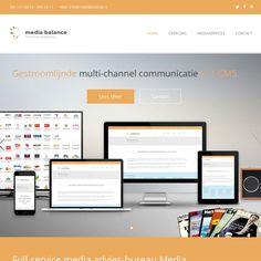 webdesign pagina voor Media Balance