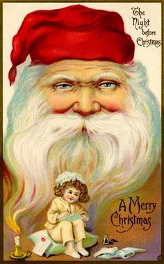 The Night Before Christmas, Christmas Past, Father Christmas, Christmas Crafts, Christmas Tinsel, Vintage Christmas Images, Victorian Christmas, Christmas Postcards, Christmas Greetings