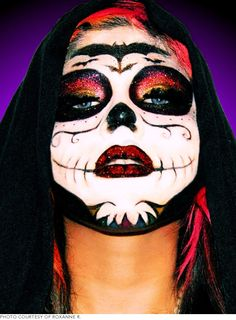 The Coolest Day of the Dead Sugar Skull Makeup Looks   Beautylish